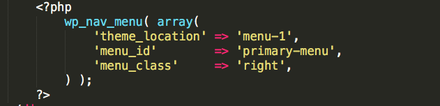 A picture of the php code as modified